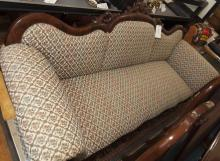 Classical Revival design floral upholstered sofa