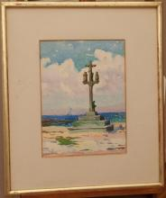 Frank A. Brown, American (1876-1962), Menzel, Tunisia, 1925, watercolor on paper, 15 x 11 inches