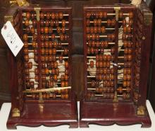 Pair of Chinese abacus