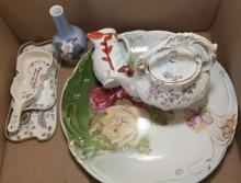 Collection of assorted porcelain items including Royal Copenhagen, 7 pieces in total