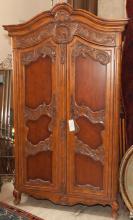 French Louis XV design two door wardrobe / entertainment center