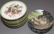 Seventeen collector's porcelain plates,