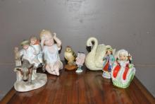 Nice collection of assorted porcelain items including figurines and figure groups