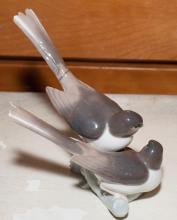 Lladro porcelain figure group of birds.