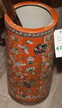 Asian design porcelain umbrella stand by Maitland Smith