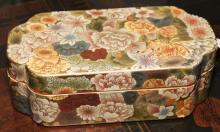 Colorful Asian design lidded box