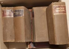 Six hardbound books