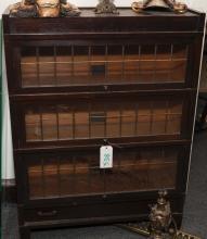 Globe Wernicke three stack lawyer's bookcase.