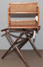 Luggage rack in faux bamboo and a small Fiji shelf