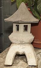 Three garden pagodas
