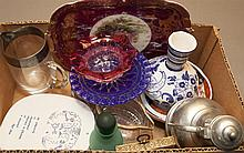 Collection of Miscellaneous Porcelain and Glass Items,