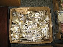 Three sets of plated silver flatware; two by Rogers Bros, HERITAGE and LA FRANCE and Community Plate GROSVENOR