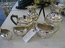 Maple & Co plated silver coffee service