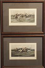 Two framed equestrian prints after George Wright titled