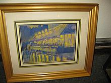 Laura Wilkinson, 20th century, Cafe Brasserie du Dome, Paris, 1928, watercolor on paper,