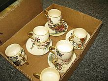 15 pieces Japanese Satsuma pottery 11 cups and 4 saucers