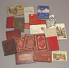 Collection of vintage picture albums of various European cities