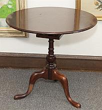 Tilt top table, tripod legs