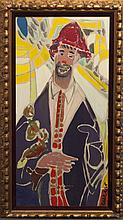 Pascal Cucaro, (1915-2004), Portrait of a clown, oil on canvas,
