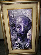 Pascal Cucaro, (1915-2004), Portrait of a man, oil on canvas,