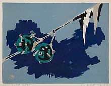 Hans Wolfgang Schulz, German (1910-1967), Fishing Floats, 1967, color lithograph, 16 x 21 inches