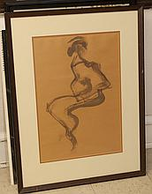 Miller, American 20th century, abstract, 1965, ink wash on paper,