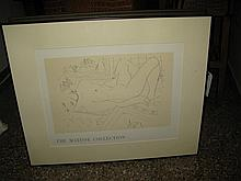 Matisse exhibition poster, with blind stamp lower right, framed