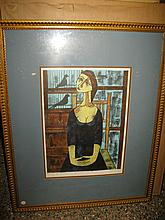 Continental School 20th Century, Prova D'artista, lithograph,