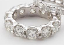 Large diamond eternity band