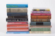 Collection of Books on Johannes Brahms, Robert Schumann, and Clara Schumann