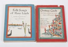 A Pair of Childrens Song Books by HENDRIK WILLEM VAN LOON & GRACE CASTAGNETTA, Signed by the Author and Artist, 1937, 1938