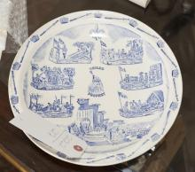 VP porcelain blue and white commemorative plate