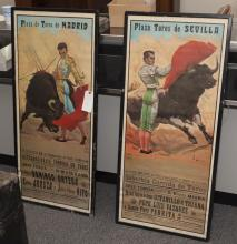 Pair of framed posters,