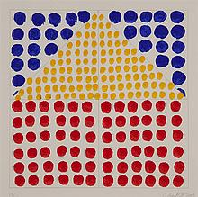 Jennifer Bartlett, American (b. 1941), House #2 and #6, silkscreen, 12 x 12 inches