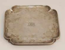 Tiffany & Co., New York,; Sterling Silver Small Tray