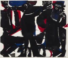 Helmut A.P. (HAP) Grieshaber, German (1909-1981), Rabbi, 1964, color woodcut,