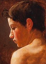 Frank Lewis Emanuel, British (1865-1948), Portrait of young boy, oil on canvas, 14 1/2 x 10 1/2 inches