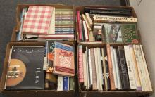 Four boxes of assorted books on miscellaneous subjects,