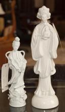 Two white porcelain Asian figures