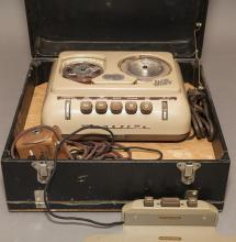 Vintage Rembrandt play back office machine in carrying case