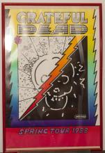 Framed Peter Max Grateful Dead poster,