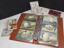 Post card album of seasonal post cards