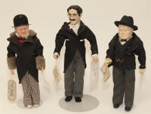 Three Effanbee character dolls; 15 1/2 'Winston Churchill' from Great Moments in History series; 15 1/2