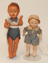 Two vintage dolls; 13 1/2