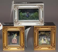 Three pieces Walt Disney Gallery of light by Olszewski,