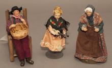 Three European dolls; two 9 1/2