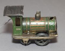 Antique lithograph Marx wind up locomotive