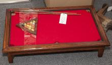 Miniature billiards table