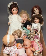American plastic, vinyl and composition dolls including IDEAL P-90, R&B