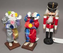 Three figurines; pair of 11 1/2